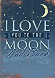 Grindstore I Love You to The Moon and Back Blechschild 28 x 41 cm