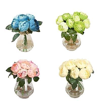 Wawer 1 Bouquet 6 Köpfe Künstliche Pfingstrose Seide Blume Blatt Home Hochzeit Party Decor von Wawer - Du und dein Garten