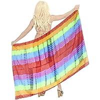 a picco leggeri signore colorante chiffon legame cover in su il vestito hawaiano bikini sarong