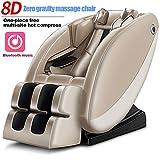 XLBHD Elettrico Poltrona da Massaggio gravità Zero Shiatsu Relax Completo per Il Corpo Intelligente con Suono Surround 3D-Massaggiatori Ad Aria - Massaggio Termico nella Parte Posteriore