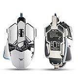 Combaterwing 4000 DPI Professionelle USB Gaming Maus, Kabelgebunden, mit 10 Programmtasten, LED-Optisch, Ergonomische, A