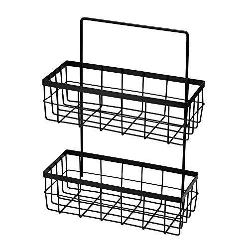 TiooDre Hängeständer, 2 Schichten Kabinett Küche-Speicher-Organisator Korb für Pantry Halten Dish Soap Fenster ClUPCer Schwämme Halte