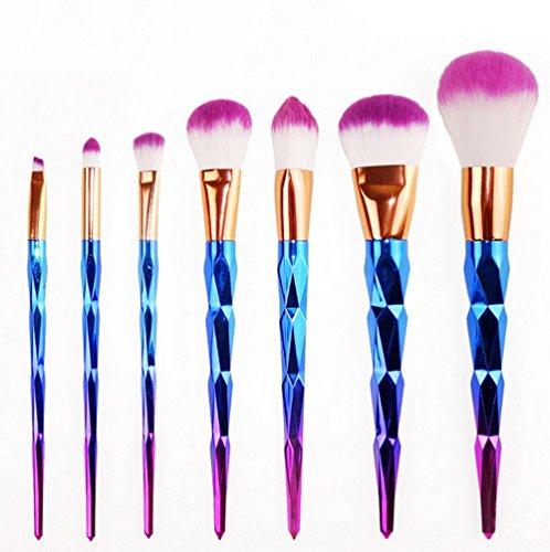 RY@ 7 pcs / set maquillage pinceaux pour sourcils Foundation eye-liner blush cosmétiques correcteur , A