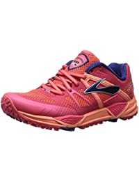 Brooks Cascadia 10 Zapatilla de Running Trail – de las mujeres Flamingo/Creamsicle/Blueprint, 5.0