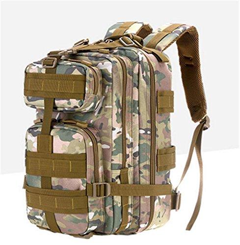 Nylontasche Multifunktions-Schultertasche wasserdicht Bergsteigen Taschen taktischer Außensporttasche light brown camouflage
