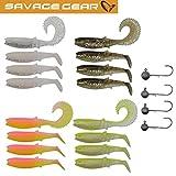 Savage Gear Canibal Box Kit XS - 16 Gummifische + 4 Jighaken zum Barschangeln, Barschset, Ultra Light Köder, Angelset für Barsch