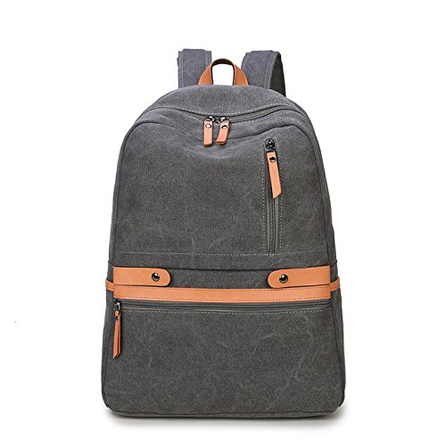 SZH Haltbarer starker Segeltuch-kletternder kampierender Bergsteigen-wandernder Laptop-Rucksack dark gray