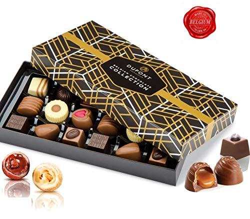 Belgische schokolade – pralinenschachtel mit milch und zartbitterschokolade, trüffel,Ganache,pralinen. DuPont Chocolatier – perfekten schokoladen geschenkpackung für geburtstage, Geschäftskunden, gast