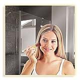 Artland Qualitätsspiegel I Wandspiegel 50x50 cm beleuchteter Spiegel mit LED warmlicht Rahmenlos Modernes Design – Hochwertig - Badezimmerspiegel B8JP