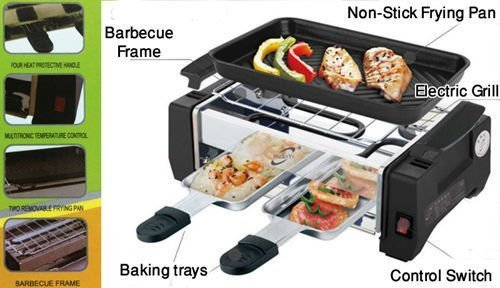 ISABELLA Electric Barbecue Grill And Tandoor - Now With Frying And Roasting Function  available at amazon for Rs.1249