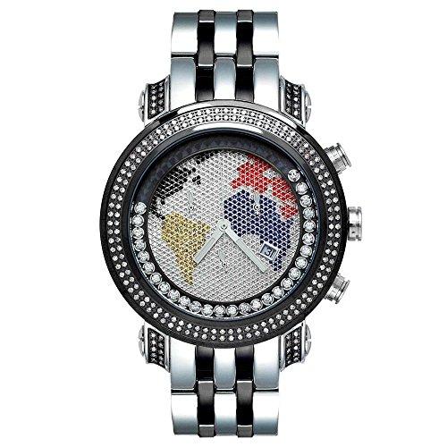Joe Rodeo diamante da uomo orologio - TYLER Nero 2 ctw