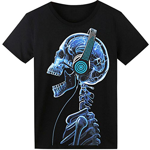 LED T Shirt Sound Activated Panda EL T Shirt Light UP Shirt Glow Shirt for Party Hiphop Halloween Cosplay Birthday (Mann Kostüme Glow)