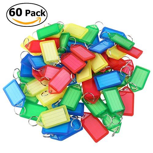 WINOMO llaveros con etiqueta para equipaje (60 unidades color al azar)