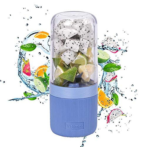 Hamkaw Licuadora Portátil Personal, USB USB Juicer Cup, Fruta, Batido, Máquina Mezcladora De Alimentos para Bebés con Un Potente Motor