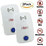 Cockroach repellent,ZOOYAUE Ultrasonic Pest Repeller, Electronic Plug In Insect Repellent, insect repellent plug in,Indoor Pest Control with Night Light for Cockroach, Rodents, Flies, Mosquitos, Ants, Spiders, Fleas, Mice(2 Pack)