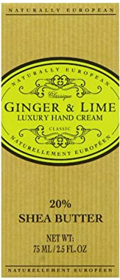 Naturally European Ginger & Lime Luxury Hand Cream Boxed 20% Shea Butter 75ml