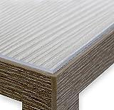 Glasklar Folie 2,0 mm transparente Tischdecke Tischschutz Lebensmittelgeeignet, Breite und Länge wählbar, 100x200 cm