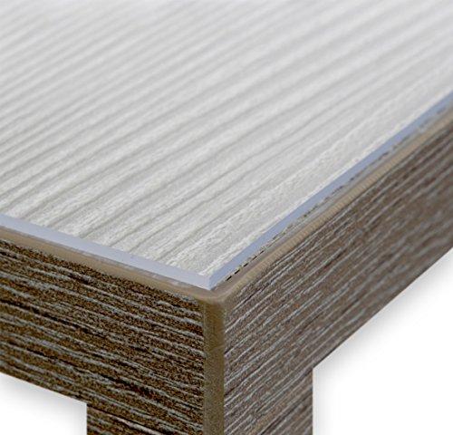 BEAUTEX Glasklar Folie 2,0 mm transparente Tischdecke Tischschutz Lebensmittelgeeignet, Breite und Länge wählbar, 90x160 cm