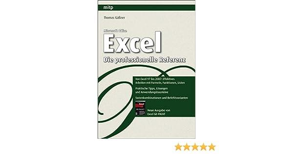 Microsoft Office Excel - Die professionelle Referenz mitp ...