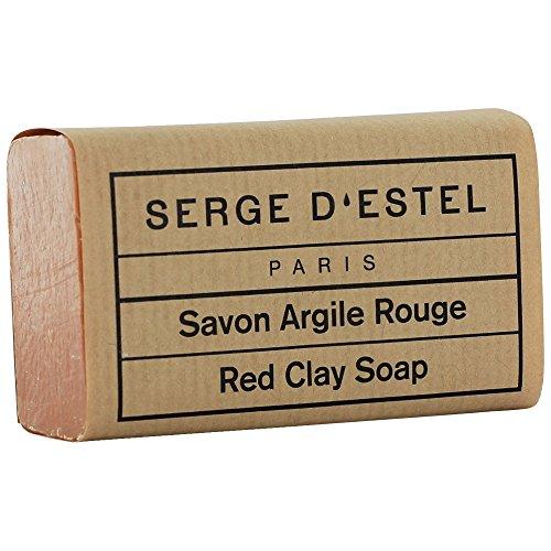 Savon Argile Rouge 120G. Savon de Soin Peaux Sensibles Peaux Réactives. Fabrication Artisanale à Paris Non Testé sur les Animaux.