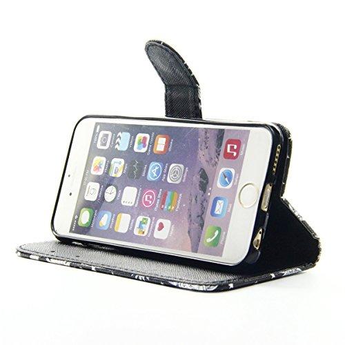 Coque Etui pour Apple iphone 6s Plus,iphone 6 Plus Coque Wallet Case,Ekakashop PU Cuir Portefeuille Coque Housse Folio Swag Housse de Protection Protecteur Ultra mince Motif Flip Cover Clapet Case ave Rock