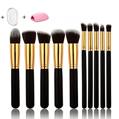 Makeup Brushes - 10 Pcs Best Foundation Makeup Brushes Professional Makeup Tools with Brush Egg And Sponge 2017 Newest Design White,Soft Hair and Comfortable Handle