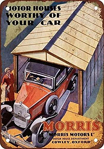 mefoll Wall Art Decor Signs 1932 Morris Motor House Garages Funny Metal Signs 12x16 Tin Sign Retro Wall Decor Bar Decor by -