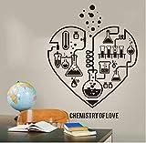 HHCUIJ Sticker Mural Décoration Maison Nouveau Design Chimie Science Abstrait Coeur Sticker Laboratoire Classe Geek Chimie Affiche Papier Peint57 * 73