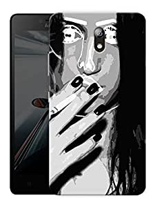 "Ulta Anda Girl Next Door Printed Designer Mobile Back Cover For "" Lenovo Vibe P1m"" (3D, Matte Finish, Premium Quality, Protective Snap On Slim Hard Phone Case, Multi Color)"