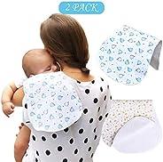 2 Pack Baby Burp Cloths Muslin Burp Large Burp Cloths Washcloths Absorbent Soft for Sensitive Skin