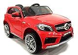 Mercedes-Benz A45 AMG, Rojo, Licencia original, Alimentación por batería, Puertas de apertura, Asiento de cuero, Motor 2x, Batería de 12 V, Mando a distancia de 2,4 Ghz, Ruedas blandas EVA, Arranque suave, Amortiguación