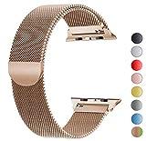 VIKATech Bracelet de Remplacement Compatible avec Apple Watch 40mm 38mm | Bracelet en Acier Inoxydable | Bracelets de Rechange Smartwatch avec Aimant compatibles avec iWatch Series 5/4/3/2/1, Or