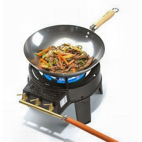Hot Wok HW3711Original Wok-Set mit Regelventil/Schlauch