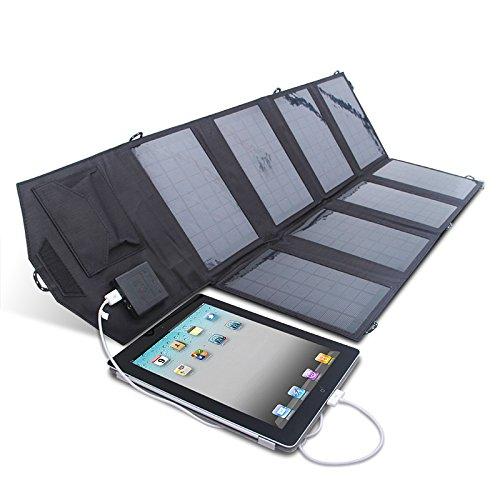 Caricabatterie leggerissimo con pannello solare 28w/5v, 2,1a e 2,5ravpower, doppia porta usb, alta conversione di energia solare, portatile, pieghevole, potente, impermeabile per tablet, ipad, iphone, pda, mp3, mp4, digital camera, power bank, dispositivi 9v, batteria 6v, batteria 3,7v, dispositivi 18v, batteria 12v