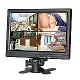 Koolertron Monitor CCTV de 10.1 Pulgadas Monitor LCD de 1024 * 600 Altavoces con Puerto HDMI/VGA/AV Soporte 1080P para DSLR/PC/CCTV Cámara/DVD/Sistema de vigilancia de la Oficina (10.1')