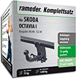 Rameder Komplettsatz, Anhängerkupplung abnehmbar + 13pol Elektrik für Skoda Octavia I (112931-01904-1)