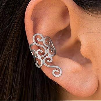 925 Sterling Silber Spiral ohrmanschette Ohrring, griechische Ohr manschette für nicht durchbohrte Ohr, griechischer…