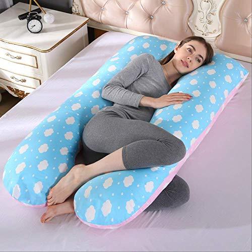 AINIYUE Almohada de Soporte para Dormir, para Mujeres Embarazadas Cuerpo 100% algodón en Forma de U...