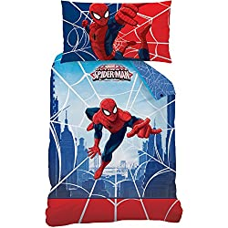 Spiderman 043970 Web de Cama, algodón renforce, 160 x 210 + 65 x 100 cm