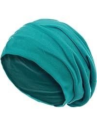 style3 Slouch Beanie aus atmungsaktivem, feinem und leichten Jersey Unisex Mütze Haube Bini Einheitsgröße