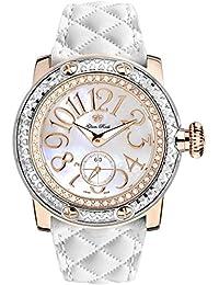 Glam Rock Miami Damen-Armbanduhr Diamant 46mm Leder Schweizer Quarz GR10532D