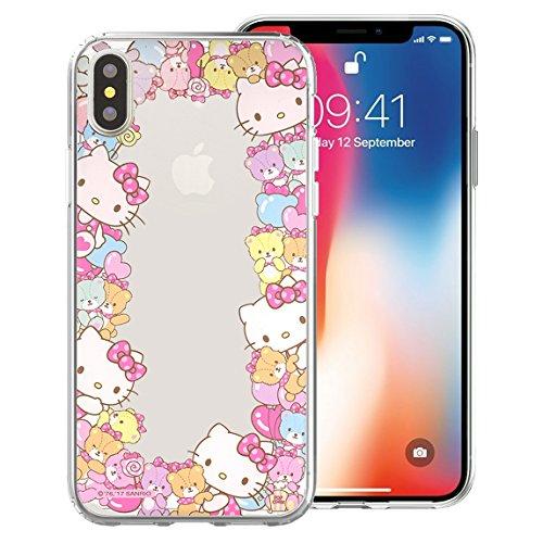 Hello Kitty Sanrio Apple (Süße Sanrio Jelly Case für Apple iPhone X, Border Jelly Hello Kitty (iPhone X))