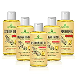 Nutriherbs Instagain hair oil for men & women | growth 100 ml | (Pack of 5)