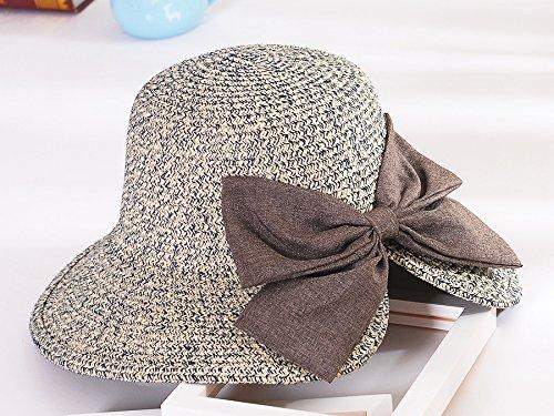 Upper-Hat summer Hat chapeau de soleil chapeau de soleil couvrant face Beach hat avec bow net Hat Cyan