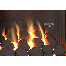 30 Gas Fire Ceramic Large Cast Coals Replacement Replacements/Bio Fuels/Ceramic/Boxed IN COALS 4 YOU PACKING