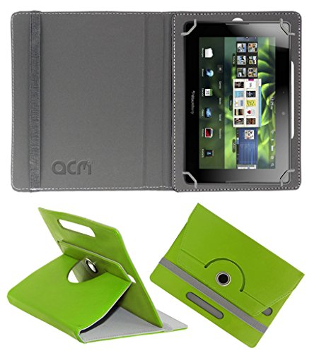 Acm Rotating 360° Leather Flip Case for Blackberry Playbook 4g Cover Stand Green  available at amazon for Rs.149