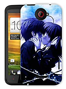 """Humor Gang Emo Couple Kissing Cartoon Printed Designer Mobile Back Cover For """"HTC ONE X"""" (3D, Matte Finish, Premium Quality, Protective Snap On Slim Hard Phone Case, Multi Color)"""