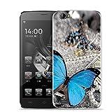 Yrlehoo Für Doogee T6 / T6 Pro 5,5 Zoll, Premium Softe Silikon Schutzhülle für Doogee T6 / T6 Pro 5,5 Zoll Tasche Case Cover Hülle Etui Schutz Protect, Schmetterling