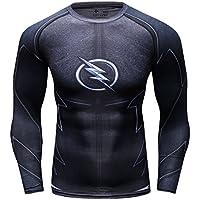 Cody Lundin impreso macho apretado y deporte en gimnasio rayo héroe logo hombres camiseta cosplay camiseta de manga larga