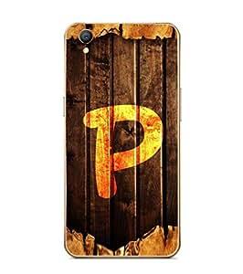 Fuson Designer Phone Back Case Cover Oppo A37 ( Unique Looking Letter P )